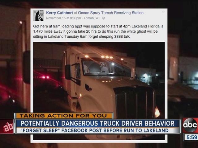 Truck Driver Facebook Post