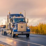 tractor-trailer on the road